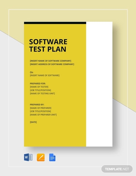 software manual test plan template