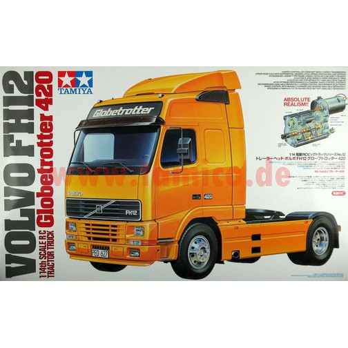 tamiya volvo fh12 globetrotter manual