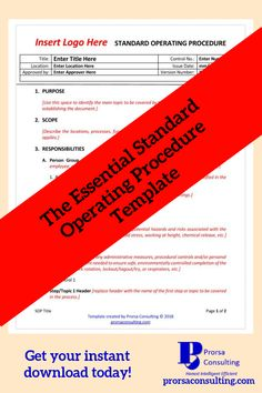 toolkit standard operating procedure manual examples